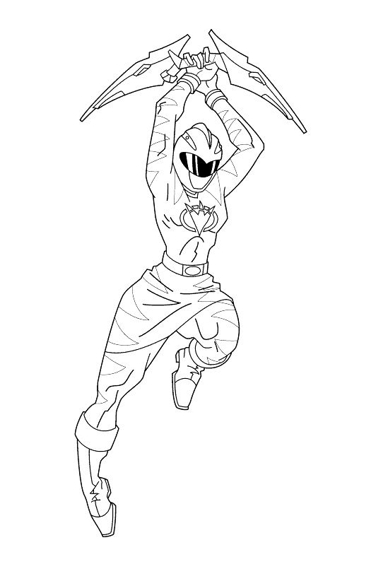 pink power ranger coloring pages - photo#17