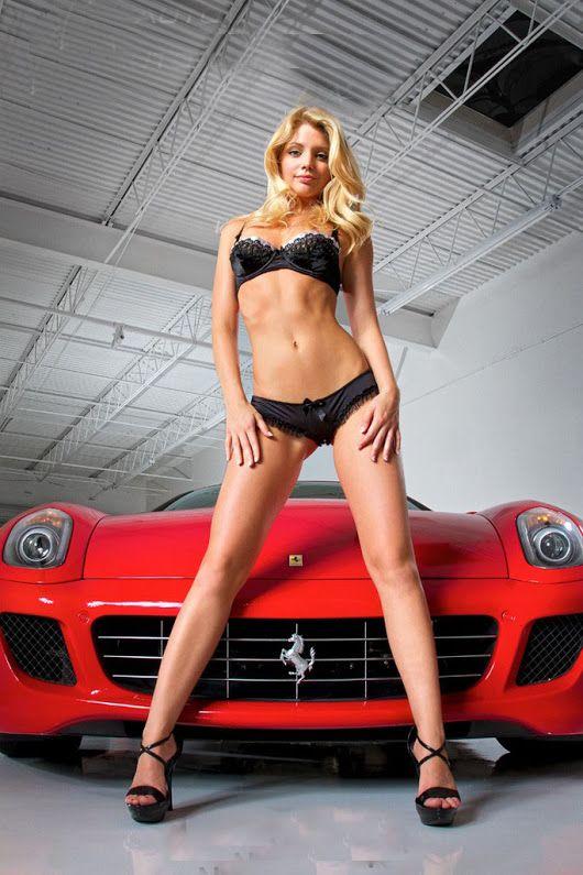 Asian car show models flirting