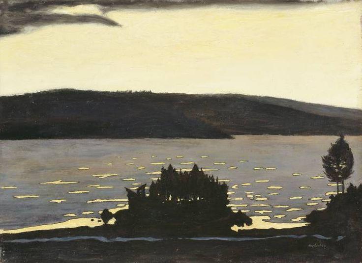 Hugo Simberg, Kevätilta jäänlähdön aikaan (Spring Evening when the Ice is Melting), 1897