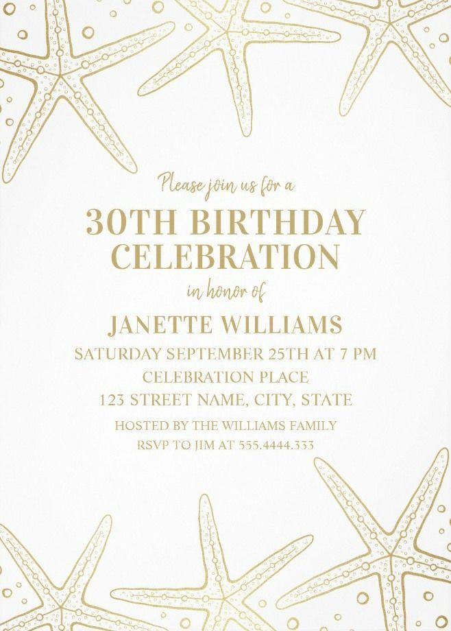 Nautical Adult 30th Birthday Invitations
