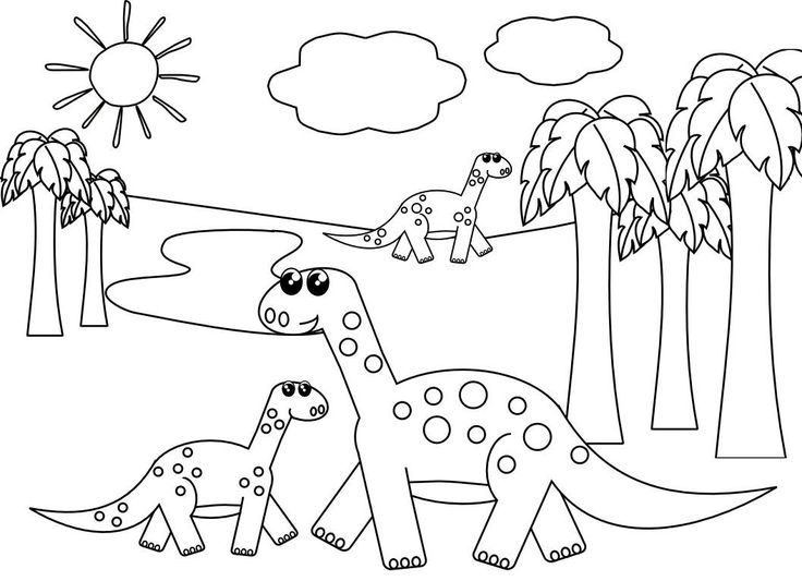 43 best Dinosaur Coloring Pages images on Pinterest | Dinosaur ...