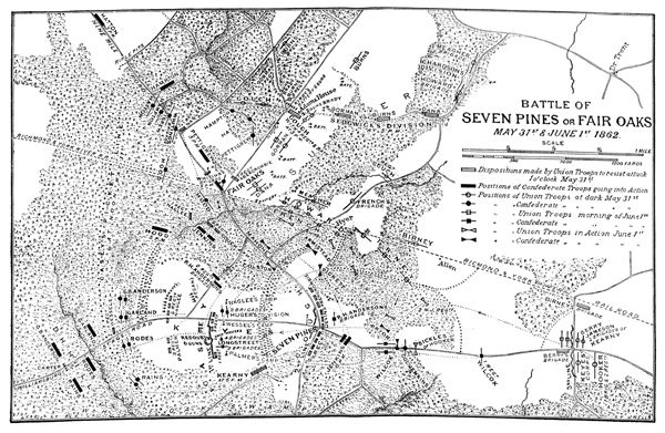 the battle of seven pines Battle of seven pines - day 1 after retreating from the peninsula johnston and  mcclellan stopped just short of richmond and settled in settled.