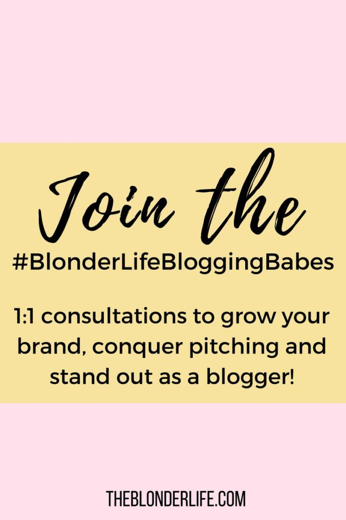 Introducing #BlonderLifeBloggingBabe 1 on 1 blog consultations with yours truly! Lets grow your brand together and stand out to brands! The Blonder Life
