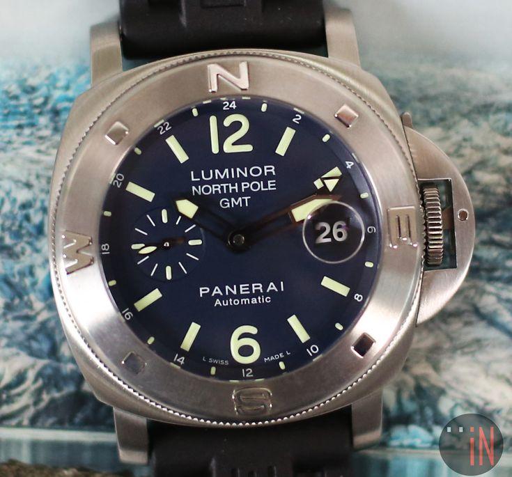 """Weather Proof!"" #Panerai 44mm Luminor North Pole GMT Ref#: PAM 252 * #MikeHorn Special Edition, circa 2006 http://www.elementintime.com/Officine-Panerai-Luminor-PAM-252-North-Pole-GMT-Mike-Horn-Stainless-Steel-Special-Edition"