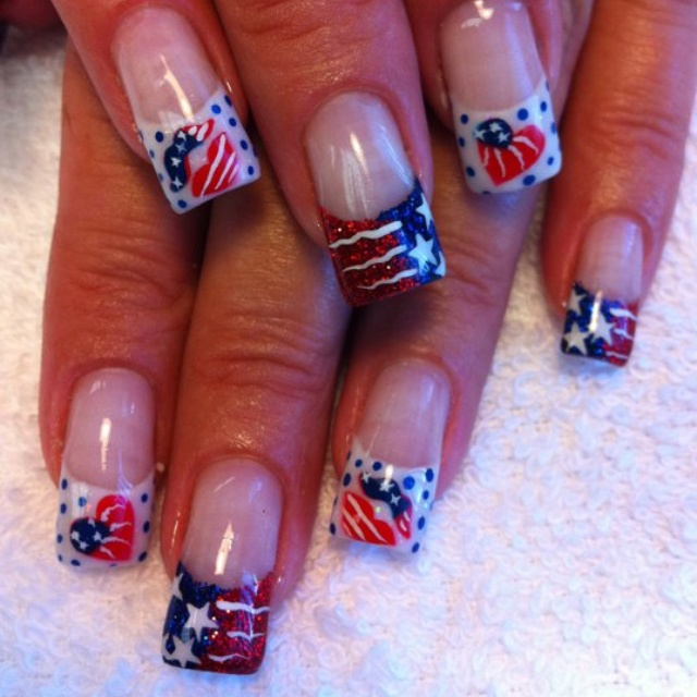 19 best Patriotic Nail Art images on Pinterest | 4th of ...