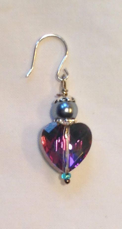 Sparkling One of a Kind Heart Charm by BitchinBling on Etsy