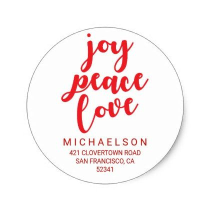 Joy Peace Love |  Christmas Address Label - merry christmas diy xmas present gift idea family holidays