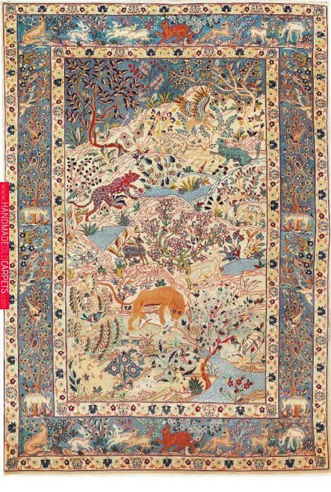 Persian Isfahan Silk Rug Rugs Silk Rug Persian Rug