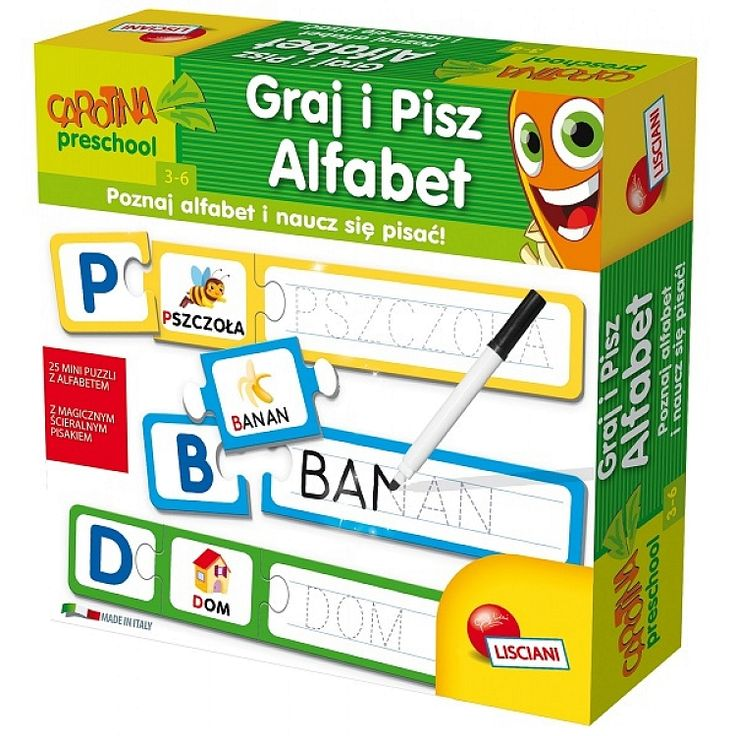 Carotina Preschool, Graj i pisz, alfabet