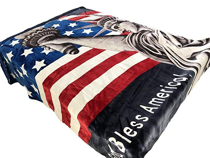 Solaron Original Heavy Mink Plush Korean Durable Blanket American Flag Statue Of Liberty King Review American Flag Flag Heavy Blanket