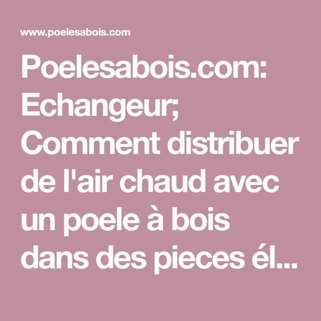 Poelesabois Echangeur; Comment distribuer de l\u0027air chaud avec - Echangeur Air Air Maison