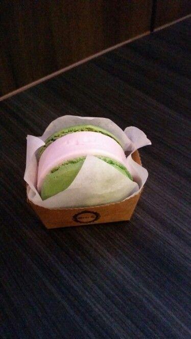 Ice cream macaroon from GEN Korean BBQ! ♡ XD ♡