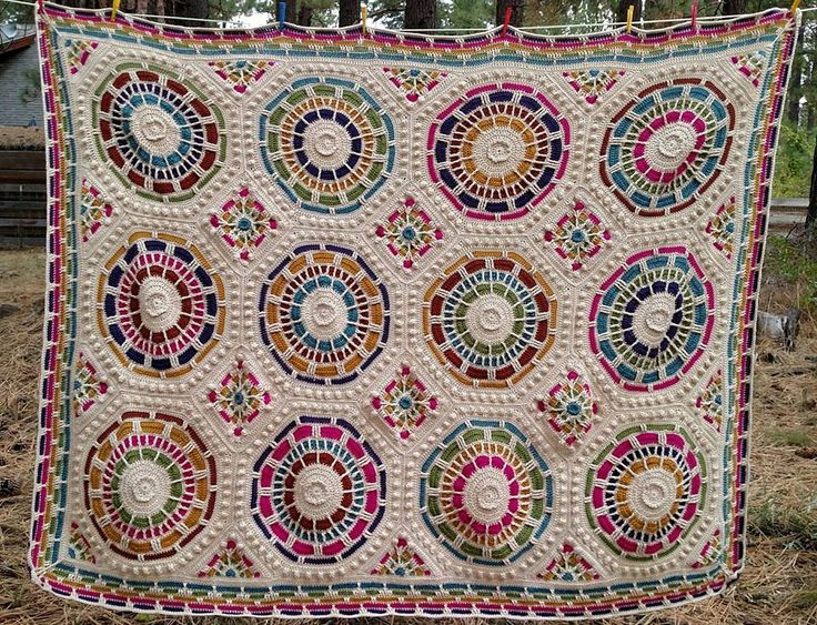 Knitting In The Heartland 2015 : Summer mosaic finished afghans julie yeager designs