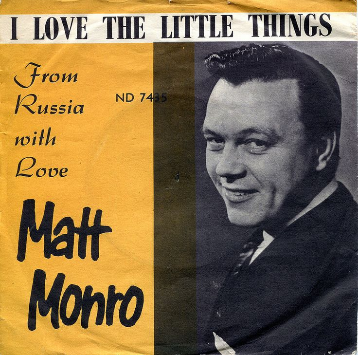 """Matt Monroe I love the little things / From Russia with love ( from the film) (Odeon  ND 7435)  1964 Sleeve made in Norway and Record made in Denmark.    """" I love little things """" - british entry for the European Song Contest , # 2"""