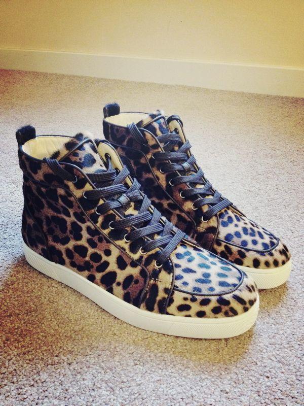 Christian Louboutin Pony Man Sneakers Leopard Print
