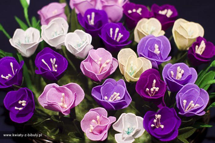Violet Crepe FLowers