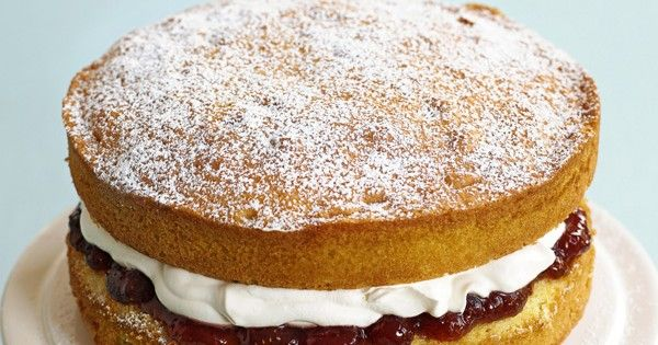 A classic, simple Victoria sponge. This traditional sponge cake uses an all in one method making it a super quick and easy family cake, perfect for parties.