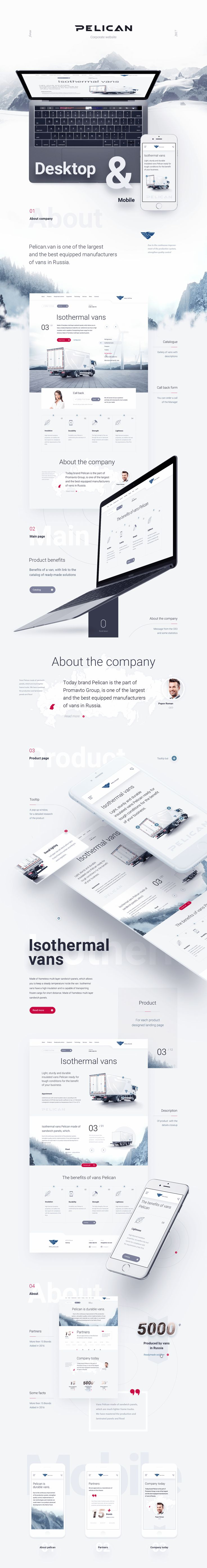 Pelican by Dmitry Kolesnikov #web #design #UI #UX