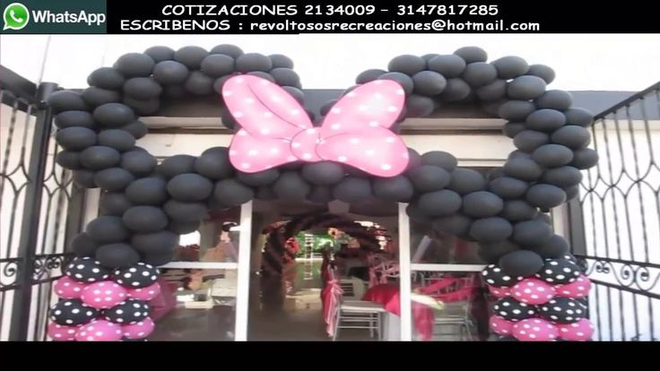 DECORACION MINNIE MOUSE ESPECIAL CON GLOBOS