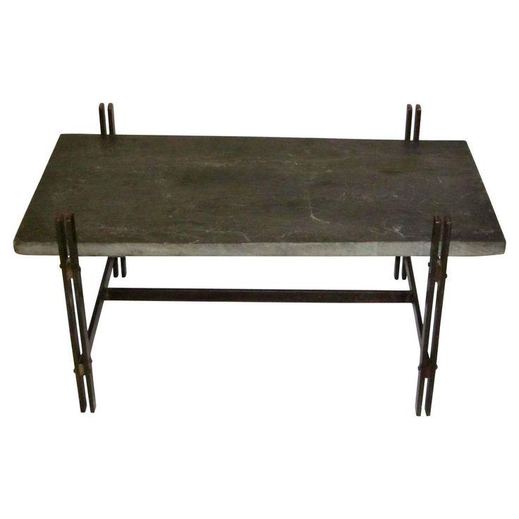 vintage slate top coffee table