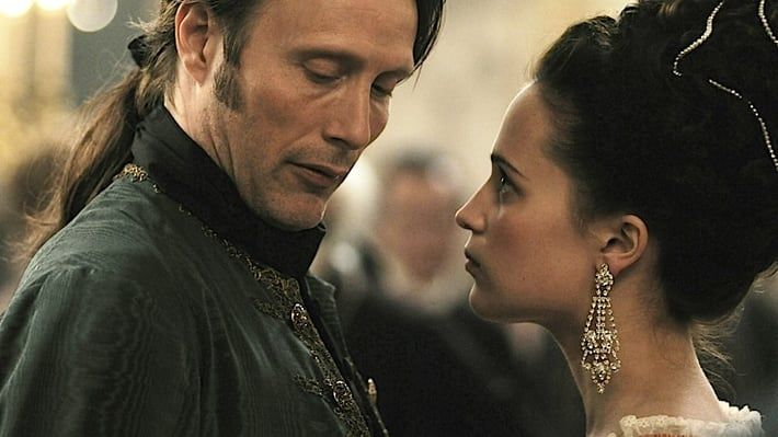 Mads Mikkelsen and Alicia Vikander in 'A Royal Affair'[credit: Zentropa Entertainment]