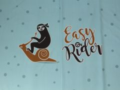 """Stoffdesign Faultier/Sloth """"Easy Rider"""" Rapport exklusiv für stoffversand4u.de"""