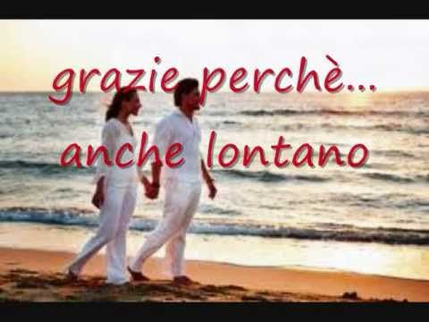 "italian music. Gianni morandi with amii stewart sing the duet ""grazie perche"". this video clip is from youtube.com and shows a still shot with the song's lyrics and the song playing in the background. this song and performance is an Italian classic. simply beautiful. one of my personal favorites. enjoy!"