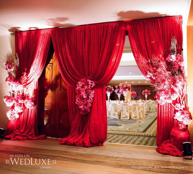 Wedding Grand Entrance Song: Grand Entrance To A Reception Space #pink #red #fabulous