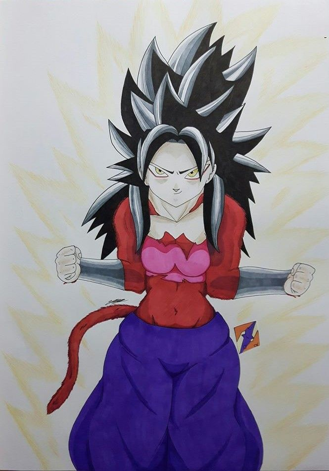 SSJ4 Caulifla fanart from Dragon Ball Super by ZorArt