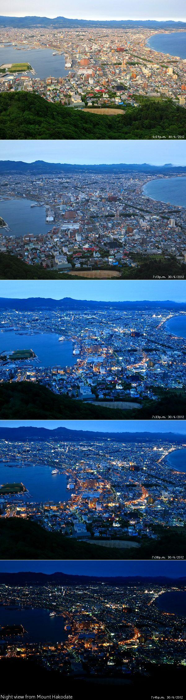View from Hakodate-yama (Mt. Hakodate), Hokkaido, Japan