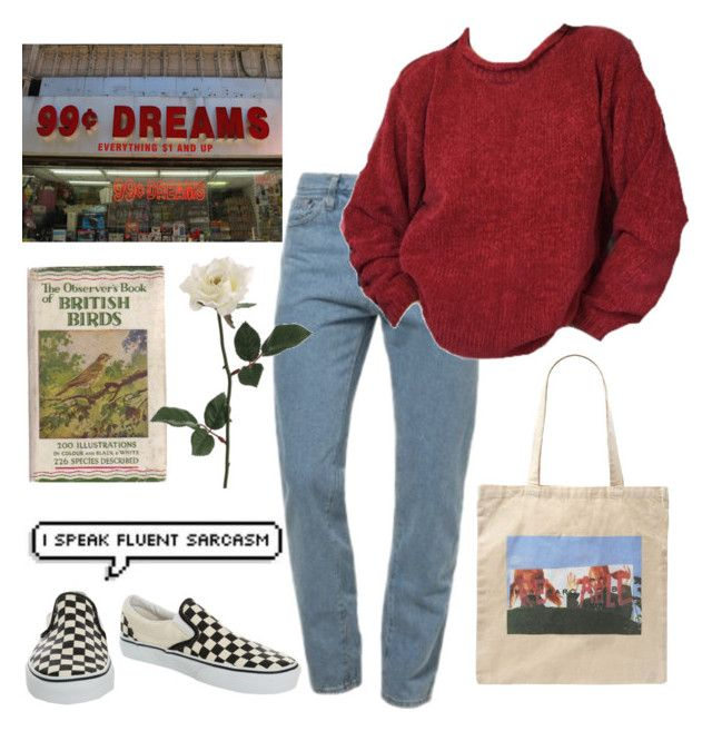 """""""61"""" by ourijimin ❤ liked on Polyvore featuring American Apparel, Marc Jacobs and Vans"""