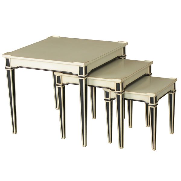 Monte Carlo Nest of Tables http://strutliving.com.au/french-provincial-furniture/546-monte-carlo-nest-of-tables-56x56x51cmh.html