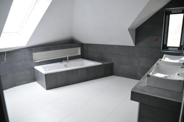 Realizacja domu wg. projektu Julka MG Projekt - łazienka  #łazienka #bathroom #interior