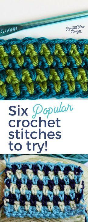 6 pontos de crochê fáceis de aprender hoje - pontos diferentes para crochê