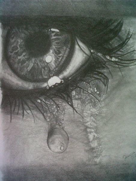 "Drawing A Teardrop: ""Teardrops"" Pencil Drawing"