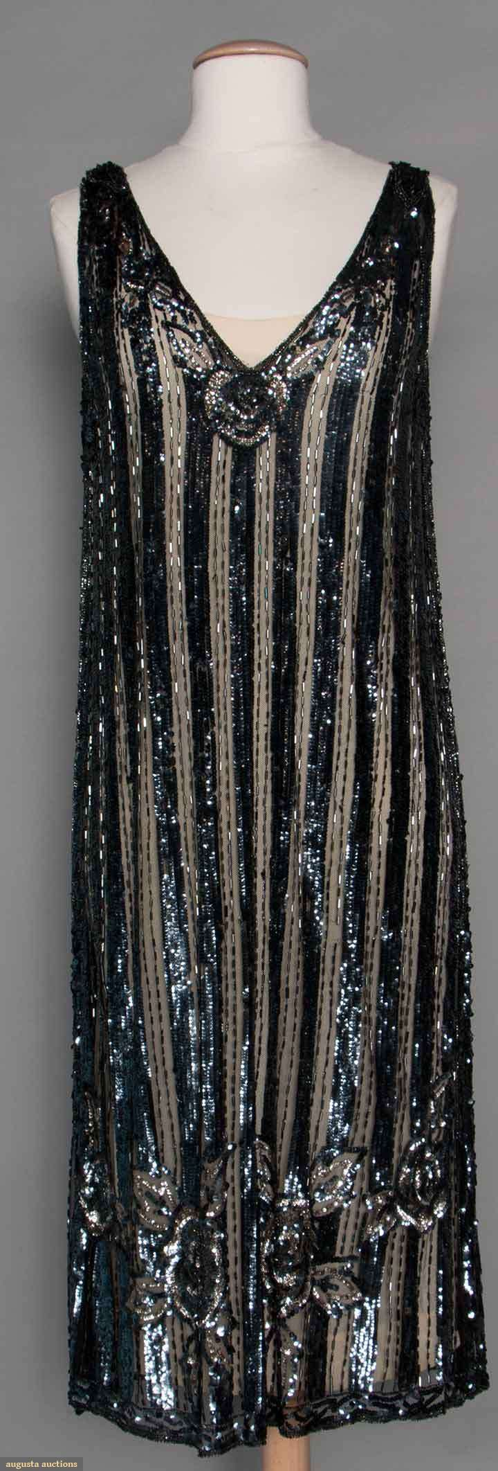 Sequined Flapper Dress, 1920s, Augusta Auctions, November 12, 2014, Lot 208