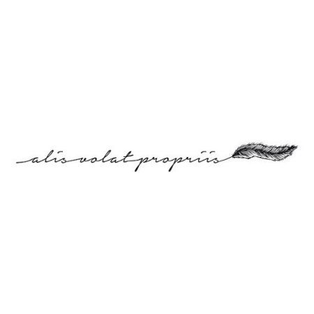 Tattify She Flies Latin Quote Temporary Tattoo - Winged (Set of 2)