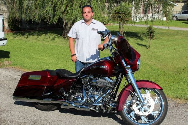 Tanner McClung of Nederland, Texas, builds his dream ride from a 2012 Harley-Davidson CVO Street Glide he bought new.