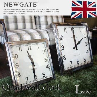 【楽天市場】レトロアンティークデザインのオシャレ時計☆From United KingDom♪ Quad wall clock L (クヮドウォールクロック L) 掛時計 TR-4253 NEW GATE (ニューゲート) 送料無料:家具・インテリア・雑貨 ビカーサ