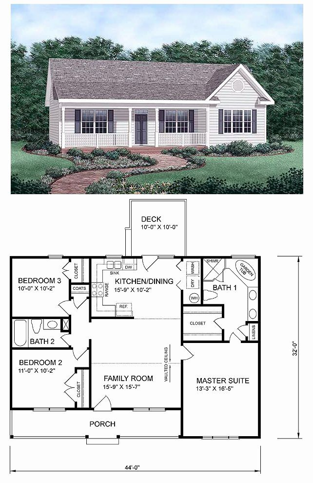 Traditional Ranch Style House Plans Inspirational Traditional Style House Plan With 3 Bed 2 Bath In 2020 Ranch House Plans Floor Plans Ranch House Plan