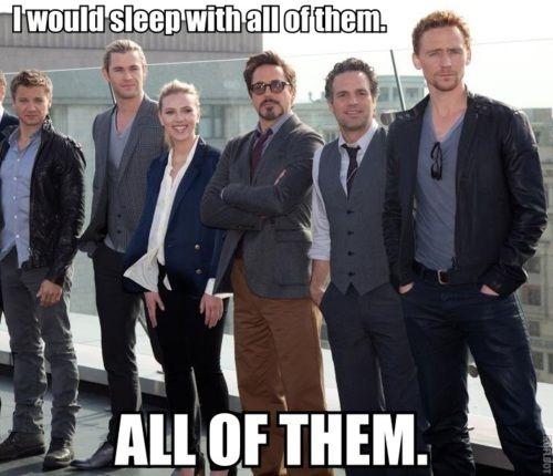 yeah, I can't disagree what that...: Chris Hemsworth, Geeky Nonsen, Scarlett Johansson, Chris Evans, Toms Hiddleston, Girls Glasses, Avengers Cast, Nerdy Things, The Avengers