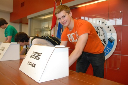 Students attending Namao School, located in the Sturgeon School Division, participated in Student Vote 2012, on April 20.