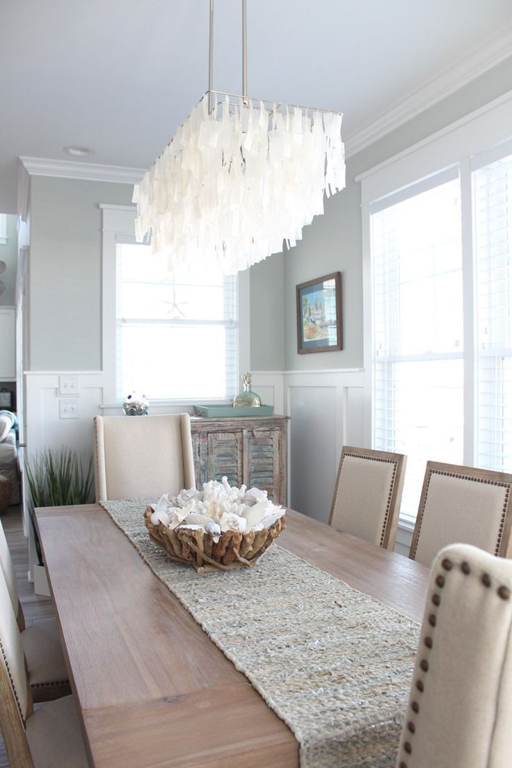 top 25 best coastal dining rooms ideas on pinterest beach check out our home of the month feature a serene ocean isle beach home capiz chandelierchandeliersnorth carolina