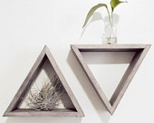 Triangle Shelf: Idea, Shelves Barnwood, Decoration, Triangles, Art, Grey Floating, Triangle Shelves, Triangle Shelf, Barnwood Grey