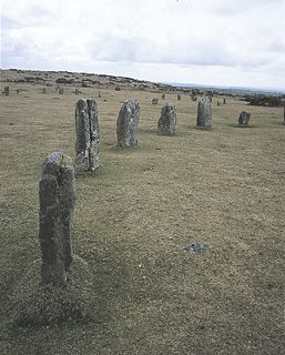 THE HURLERS: part of the central circle of The Hurlers. Bodmin Moor, Cornwall. ✫ღ⊰n