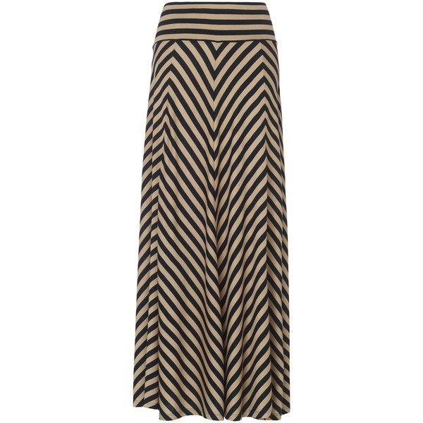 Phase Eight Jasmin chevron stripe maxi skirt ($75) ❤ liked on Polyvore featuring skirts, maxi skirt, bottoms, suknje, navy, striped maxi skirt, women skirts, long skirts, chevron maxi skirt and brown skirt
