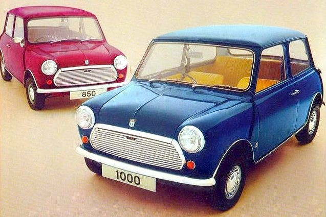 British Leyland Minis. Still cute after all these years.