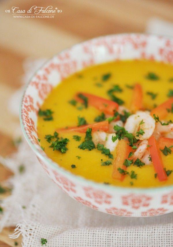 Exotische Kürbissuppe mit Limette & Ingwer {Rezept} I pumpkin soup {german recipe} I Casa di Falcone