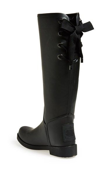 RIBBON IS SO CUTE. ALREADY HAVE BOOTS THOUGH   COACH 'Tristee' Waterproof Rain Boot | Nordstrom