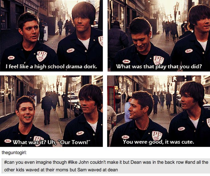 (gifs) That was... Dean is the ultimate big brother. Let's face it. It can't get much better than that. (Unless you start talking about non-fictional brothers, but let's not get into that.)